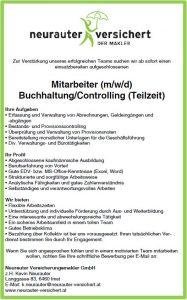 Mitarbeiter (m/w/d) Buchhaltung/Controlling (Teilzeit)