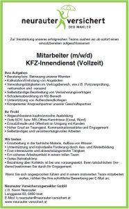 Mitarbeiter (m/w/d) KFZ-Innendienst (Vollzeit)